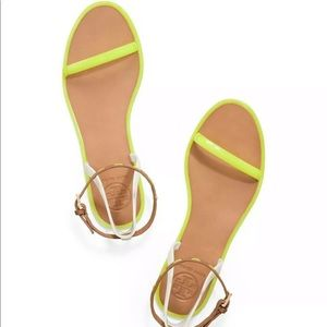Tory Burch Yellow Neon Jelly Sandals Size 6 NWOB